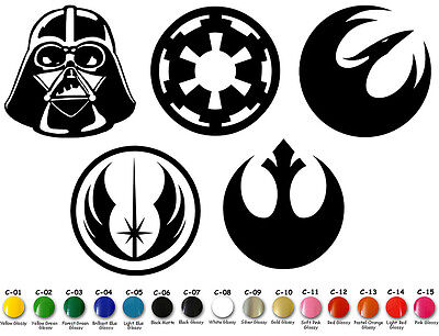 Star Wars Family Vinyl Decal Sticker Symbols Door Car Window StarWars USA Seller