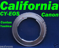 Contax Yashica Cy C/y Lens To Canon Eos 550d 600d 60d 50d 40d Ef Mount Adapter