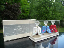 3 Flacons Anciens de MARQUAY - 1951 - Coffret - Contre Boîte - Perfume Bottle