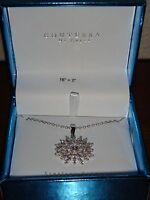 Contessa Di Capriwomen's 925 Sterling Silver Necklace & Crystals Pave Pendant
