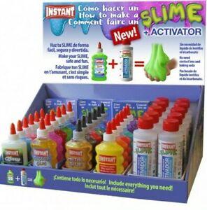 Kit-slime-fai-da-te-Attivatore-Colla-glitter-o-metal-o-Neon-o-color-pastello