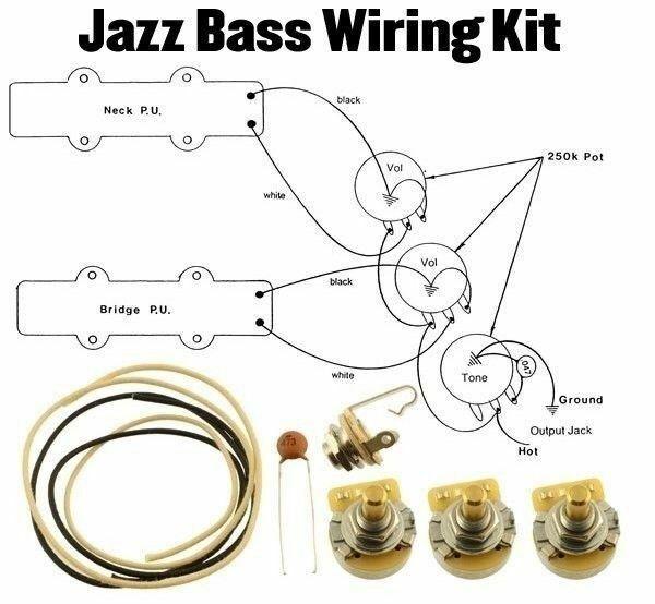 [ZHKZ_3066]  Jazz Bass Wiring Kit J CTS 250k Cloth Wire .047 Switchcraft Jack Wiring  Diagram for sale online | eBay | Switchcraft Wiring Diagrams |  | eBay