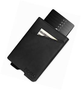 Slim Front Pocket RFID Wallets for Men wi FIDELO Minimalist Wallet Card Holder