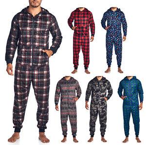 9b8381893bd9 Ashford   Brooks Men s Adult Fleece Hooded One-Piece Union Suit ...