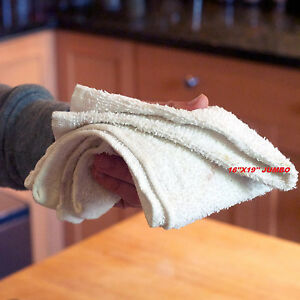 10LB COTTON TERRY CLOTH CLEANING TOWELS SHOP RAGS JUMBO 16X19 SUPER HEAVY DUTY