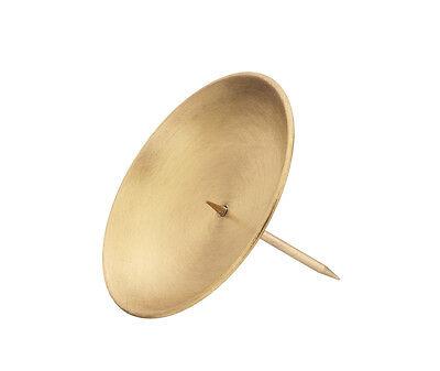 4 kranzteller kerzenstecker gold matt 12 cm kerzenhalter. Black Bedroom Furniture Sets. Home Design Ideas
