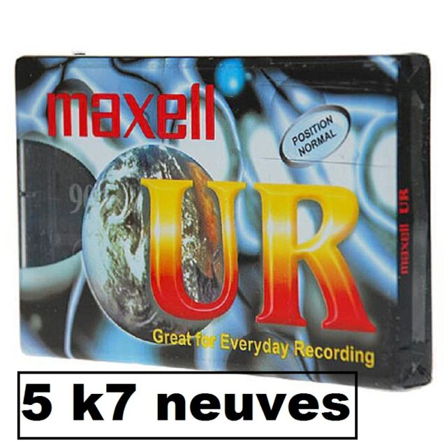 5  K7 CASSETTES AUDIO VIERGE UR 90 MN  MAXELL
