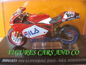 MOTO 1/24 COLLECTION DUCATI  999 SUPERBIKE 2003 NEIL HODGSON  MOTORCYCLE