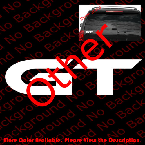 GT Gran Touring Vinyl Graphic for Performance Car Windows Decal Sticker RC067C