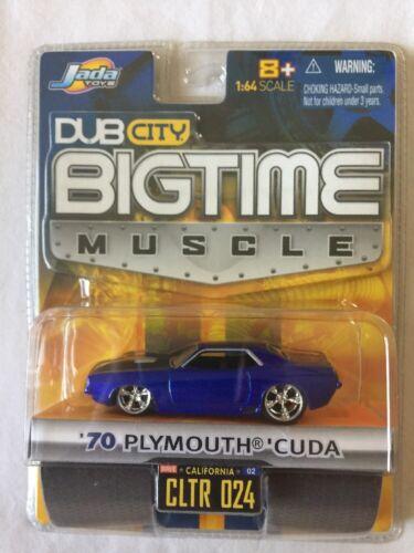 Jada Toys Dub City BigTime '70 1970 Plymouth Cuda Blue Die-Cast 1/64 Scale