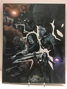 AVENGERS-INFINITY-WAR-034-GUARD-034-Art-Print-signed-by-Logan-Pack-BAM-Box-500