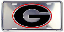 UNIVERSITY OF GEORGIA BULLDOGS CAR TRUCK TAG CHROME LICENSE PLATE SIGN