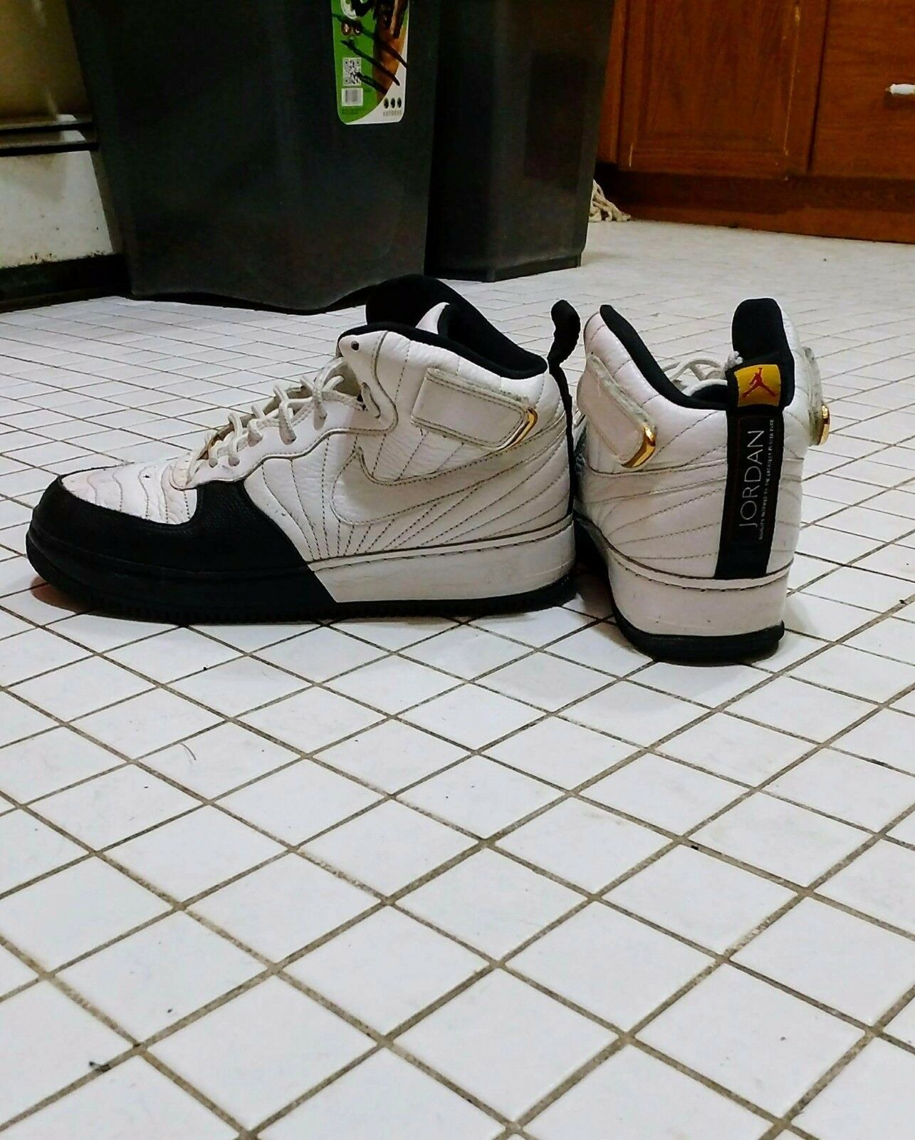 Air Jordan Force XII 12 AJF12 White Black Taxi Sneakers Men 9.5