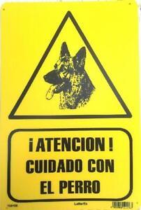 SENAL-ATENCION-CUIDADO-CON-EL-PERRO-20-X-30-CMS-CARTEL-PLACA-PLASTICA-SENAL