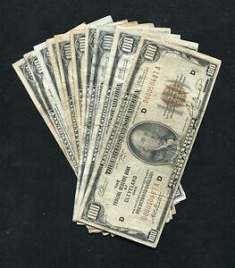 10-TEN-1929-100-ONE-HUNDRED-DOLLARS-FRBN-FEDERAL-RESERVE-BANK-NOTES