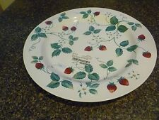 "new platter 12"" plate Strawberry Fair red green International microwave dishwash"
