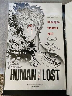 Anime Expo 2019 Human Lost Signed Poster By M Flo Ebay