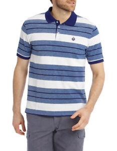 NEW Reserve Thomson Hot Price Stripe Polo Blue