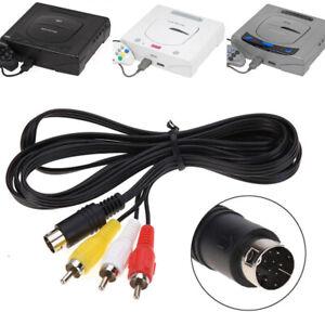 Sega-Saturn-TV-AV-Cable-Lead-Composite-Video-Audio-RCA