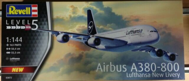 REVELL 1/144,AIRBUS A380-800 LUFTHANSA NEW LIVERY,Ref.03872
