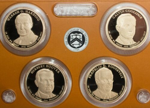 2014 Presidential $1 Coin Proof US Mint 4 Golden Dollars COINS ONLY Presidents