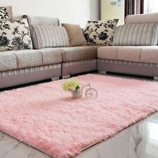 Baby Pink Girls Shaggy Rug for Living Room Bedroom House Floor 160cm ...