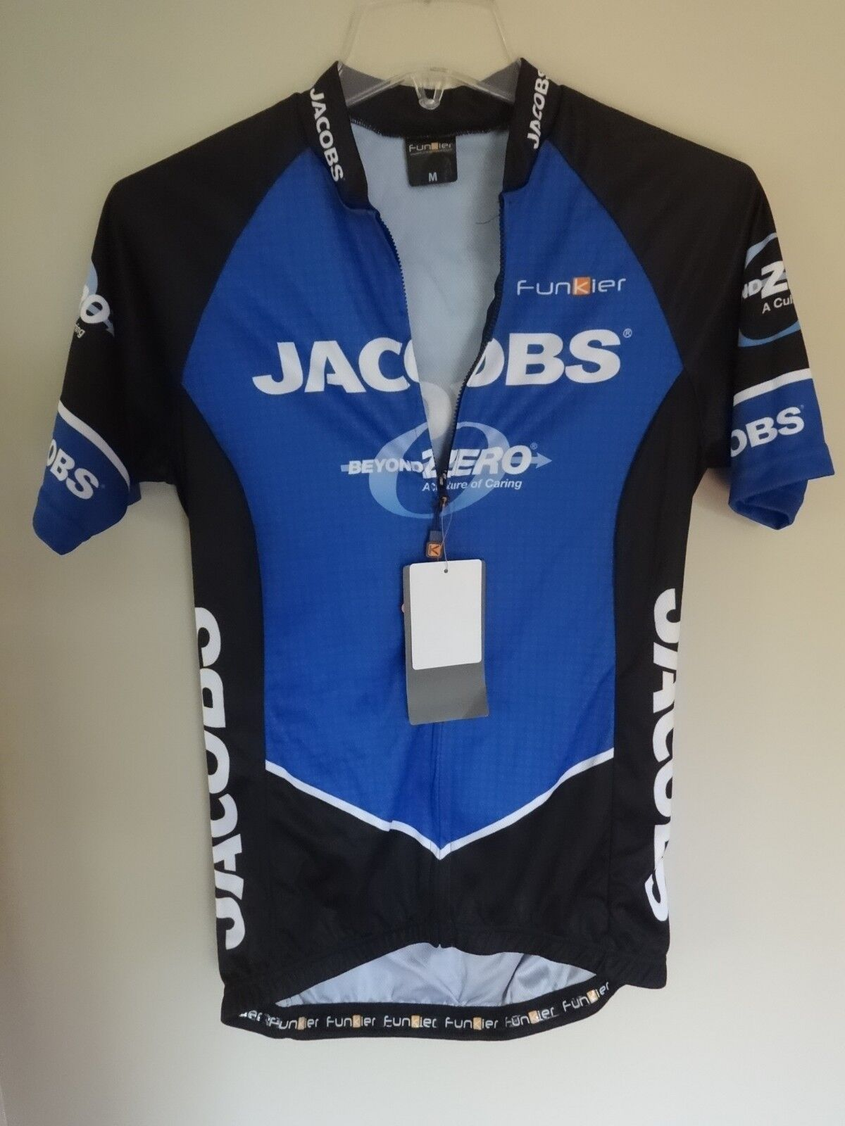 NWT Jacobs Full Zip Cycling Bike Jersey  Shirt Women M Premium Jersey by Funkier  is discounted