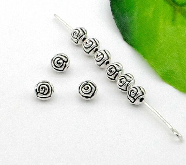 Free Ship 100//Pcs Tibetan Silver Flower Spacer Beads Jewellery Findings 5mm