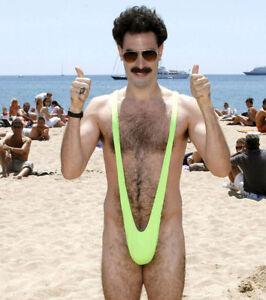 94382975bc89 Detalles de Verde Lima Mankini Estilo Borat Hombre Tanga Despedida Soltero  Disfraz Amigo