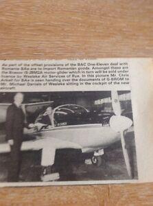 Ephemera-1981-Picture-Chris-Arkell-Bae-M-Daniels-Westlake-G-Brom-Aircraft-M4899