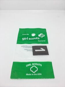 Girl Scouts Number 2 Iron On Lot Of 3