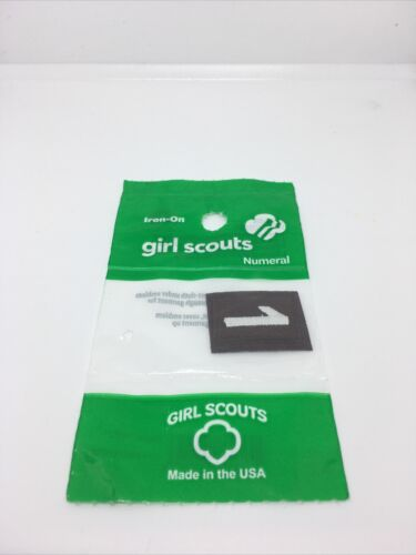 Details about  /Girl Scout Brown Number 1 Patch NEW Iron-On Numerals Lot of 12