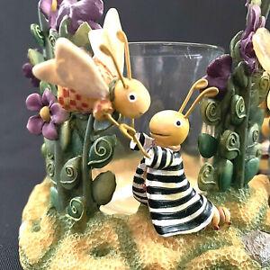 One Enchanted Evening Tea Light Bugs Frog Dragaon Fly Artisan Flair Inc 2001