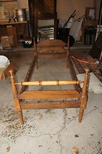 early american twin single vintage rope bed ebay