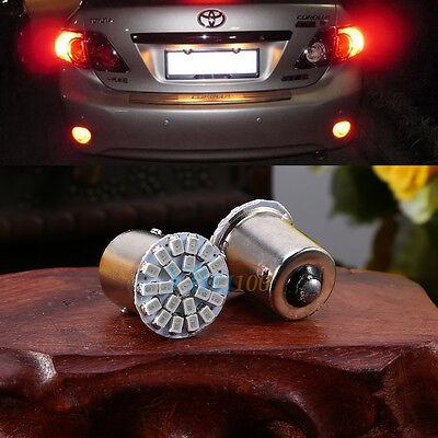 2x 1156 BA15S 1206 22-SMD LED Car Turn Reverse Tail Brake Signal Light Lamp Bulb