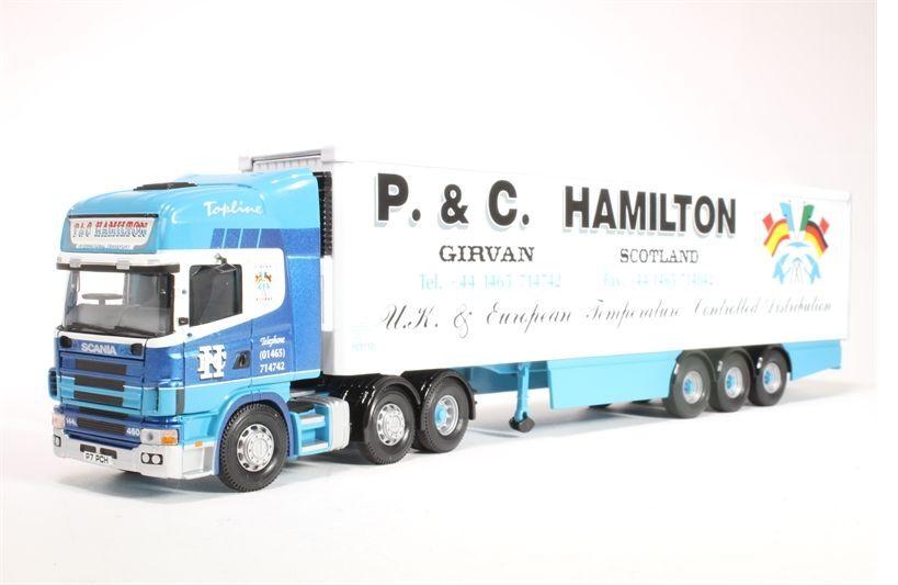 Corgi Modern Trucks Heavy Haulage CC12906  Scania Fridge P&C Hamilton 1 50 Scale