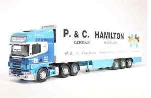 Corgi Modern Trucks, Transports lourds, Cc12906, Réfrigérateur Scania, échelle 1/50 Hamilton
