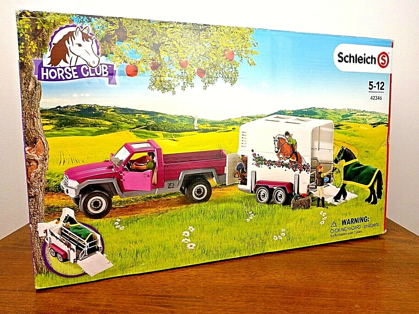 Schleich Pick up with Horse Box Action Figure NEW DAMAGED BOX
