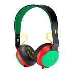 House of Marley On-ear Rasta Headphones With 1 Button Microphone