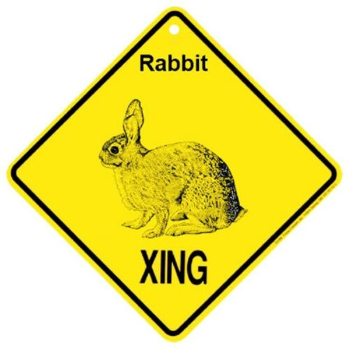 Rabbit Crossing Xing Sign New