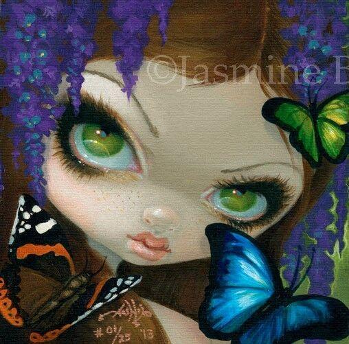 Faces of Faery 212 Jasmine Becket-Griffith art CANVAS PRINT Wisteria fairy art