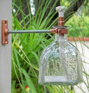 (ensemble De 2) Torche Tiki Lampe à Huile Vase Patron Tequila Recyclé Bouteille Vide-afficher Le Titre D'origine