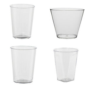 Disposable Plastic Glasses Clear Party Wedding Cups Glass Cup BBQ Catering Event