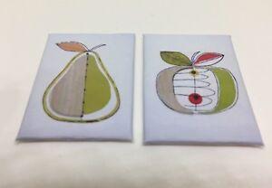 Discipliné Handmade Miniature Maison De Poupées Accessoire Toile Style Wall Art Photo Fruit-afficher Le Titre D'origine CaractéRistiques Exceptionnelles