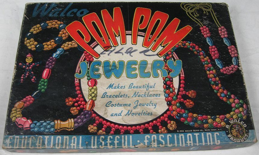 Jahrgang 1944 pom walco perle pom 1944 pom schmuck zu setzen, aus holz 0137ca