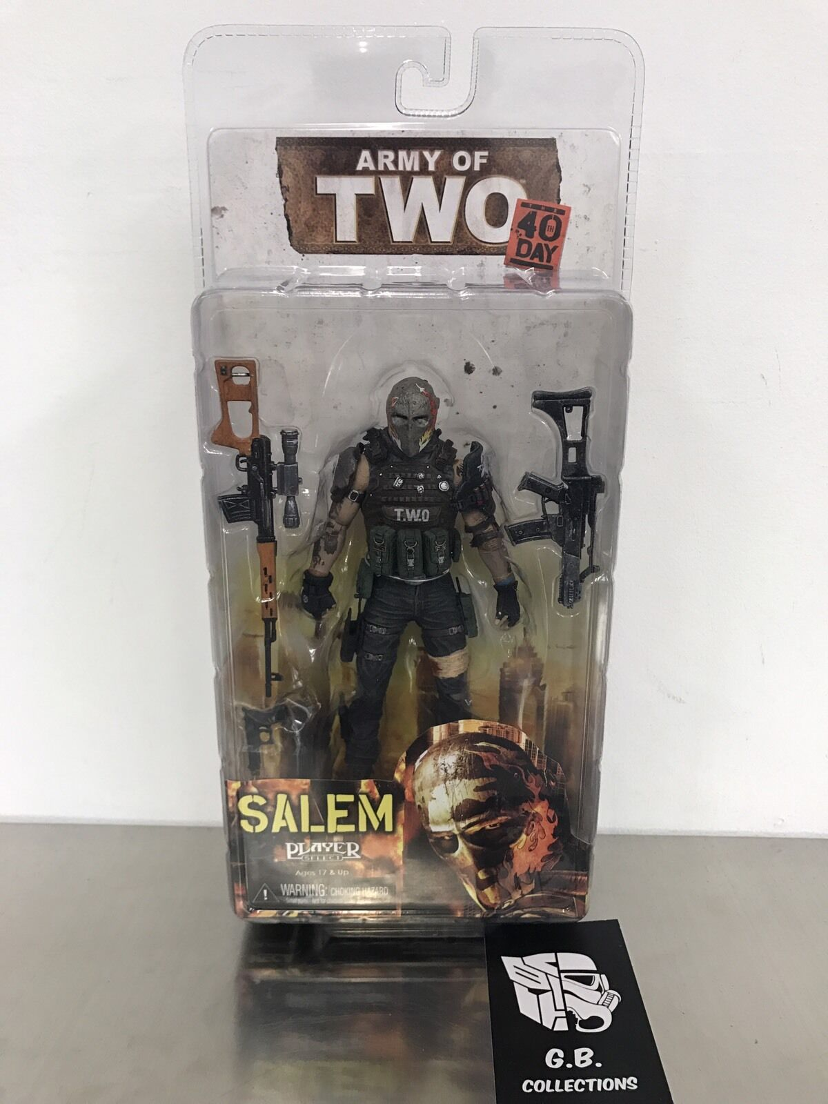 NECA Army of Two 40th Day Salem Action Figur New Sealed