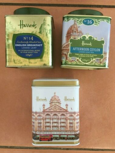 choose your favourite Harrods collectable empty tins