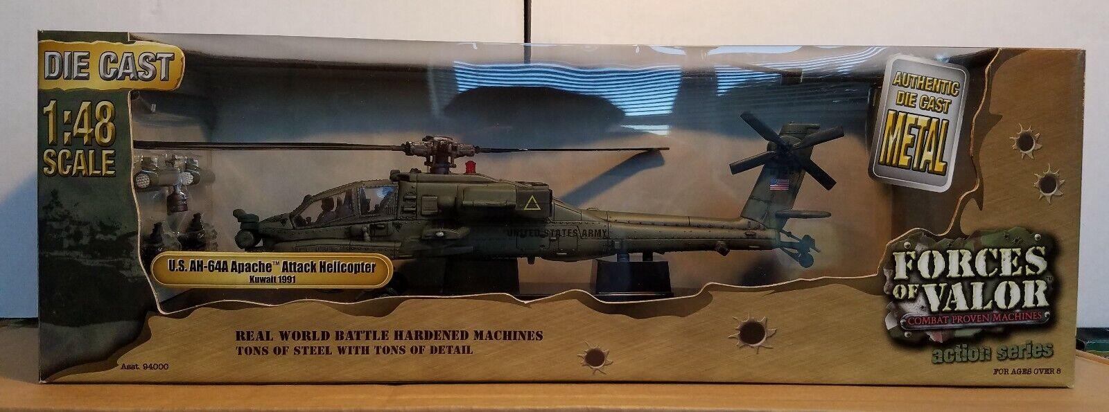 Forces of valor AH-64A Apache ataque helicóptero de EE. UU. escala 1 48