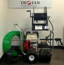 Trojan C4300 Gas Cart Jetter Sewer Cleaning Machine Pressure Washer