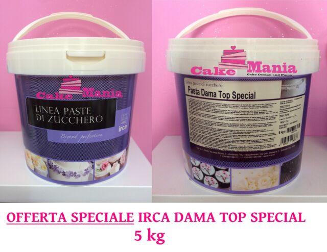 5KG PASTA DI ZUCCHERO IRCA DAMA TOP SPECIAL BIANCA CAKE DESIGN PDZ CAKEMANIA